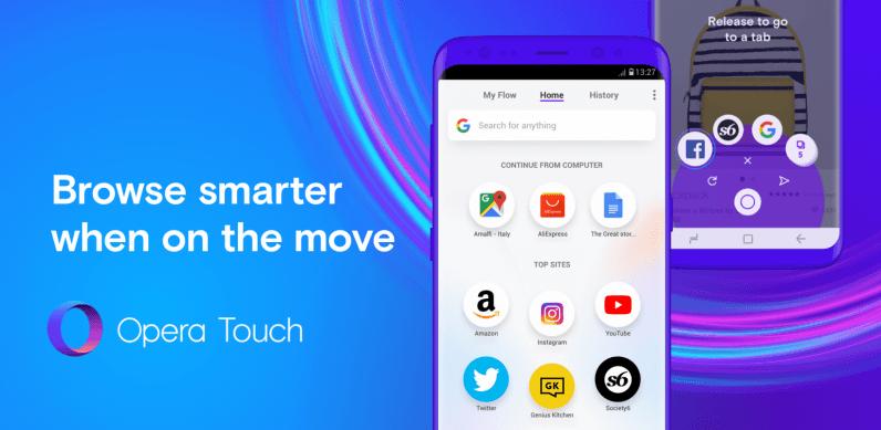 Opera'nın yeni tarayıcısı: Opera Touch