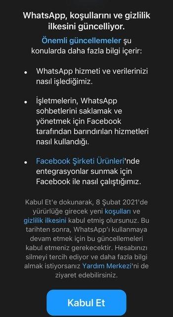 WhatsApp sözleşmesi nasıl iptal edilir?